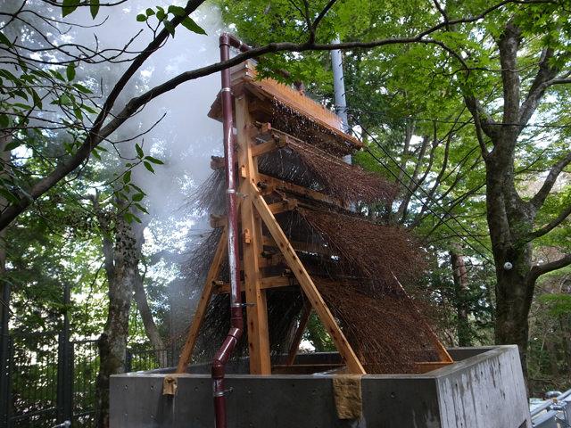 神奈川県 修古館(美術館) 温泉熱交換および気化熱利用による床暖房と足湯施設